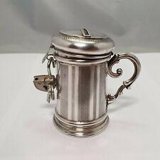 Biedermeier Spardose aus Silber