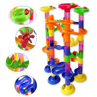 105pcs 3D Maze Rail Toy Marble Racing Game Marble Run Play Set Educational Toys