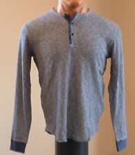 New! Lucky Brand Men's Twisted Slub Henley Blue Size L $69.50