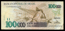New ListingWorld Paper Money - Brazil 100000 Cruzeiros Nd 1992-93 @ F-Vf