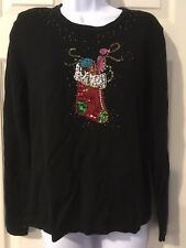 Beaded Christmas Sweater Just B Size Medium