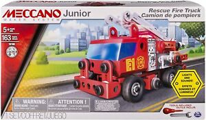 Meccano Junior Rescue Fire Engine Building Set Toy with 163 Pcs 3+ Years