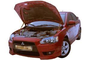 Fit Mitsubishi Lancer X 2007- Bonnet Strut Gas Lift Hood Damper Kit x2 Supports