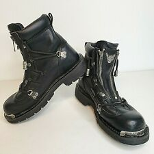 Harley Davidson 81680 Womens US 8 Black Boots Leather Motorcycle Biker EUR 39