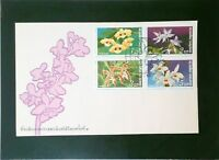 Thailand 1978 Flower Series First Day Cover, With Details Card (II) - Z3237