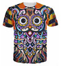 New Fashion Women/Men Psychedelic Animation Owl 3D Print Casual T-Shirt K1929
