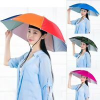 Faltbar Sonnenschirm Regenschirm Hut Sport Stirnband Kopfbedeckung Anglerhut#YJS