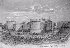 LÉON BERVILLE DESSIN ORIGINAL 1904 FORT DE HAM Marquis de Sade Napoléon 3 Somme