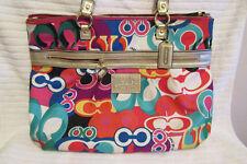 Coach Poppy Bag Multi Color Rare Style Tote H1259-F20080