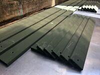 -LOT Set- RH & LH Replacement GREEN Fiberglass Board Seat Slats HMMWV M998