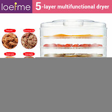 5 Trays Foods Dehydrator Fruit Vegetable Meat Dryer Home Kitchen Drying Machine