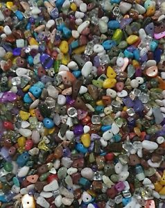Mixed Gemstone Chip Beads 50g