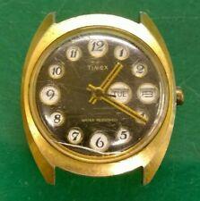 1974 Timex Men's Telephone Dial Mechanical Wristwatch - Watchmaker Repair Parts