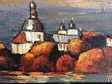 """""""Kloster in Russland"""" - Original Gemälde v. Vladimir Smahtin 46 x 71 cm"""
