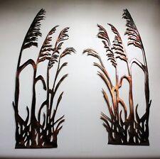 """Sea Oats Pair (2 Pieces) - Metal Wall Art - Copper 16 1/4"""" x 6 1/2"""""""