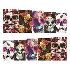 Full Wrap Nail Art Water Transfers Stickers Halloween Crazy Skulls (DS451)