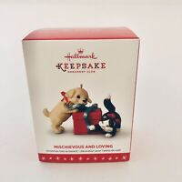 Hallmark 2016 Mischievous & Loving Kittens Cat Puppy Dog Ornament Club Exclusive