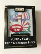 100% Plastic Playing Cards Hoyle Jumbo Index NEW Old Stock Made in USA