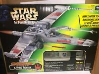 1997 Kenner Star Wars Power of the Force Luke Skywalkers X-Wing Fighter FX *NEW*