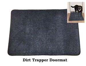 DOORMAT Dirt Trapper Door Mat in Dark Blue/Black Cotton pile with anti slip back