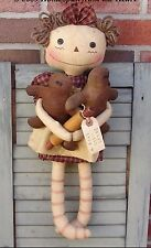 Primitive Pattern Baked with Love Annie & Gingerbread Cookies  to make ! #HFTH