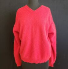 John Ashford Men's 100% Cashmere Red V-Neck XL Pullover Sweater  A2