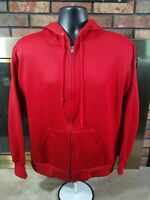 Vintage Sportswear Full Zip Hooded Sweatshirt Red VTG USA 80s Mens Size Large