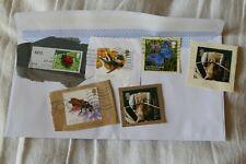 6 insects UK British commemorative postage stamps postal philately kiloware