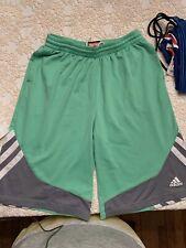 Boys Nike Basketball Shorts Climalite Xl (18) Lime Green W/Gray & White Trim