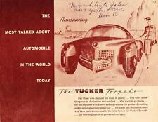 Old Print. Tucker Torpedo Brochure Car Ad