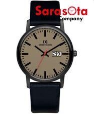 Danish Design IQ14Q974 Brown Dial Titanium Black Leather Quartz Men's Watch