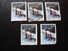 NORVEGE - timbre yvert et tellier n° 1081 x5 obl (A04) stamp norway (E)