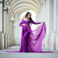 Pregnancy Long Dress Sexy Maternity Photography Cloak Fitted Dresses Full Sleeve
