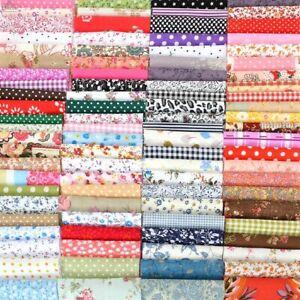 NEW 50 pcs Fabric Remnants Scraps Bundle Offcuts cotton 12 x 12 cm