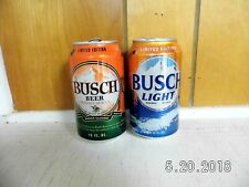 2 Limited Edition Busch Beer Aluminum Cans 12oz Empty