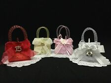 Set of 12 Decorated Favor Handbags for Quinces, Weddings, Baby Showers, Etc...