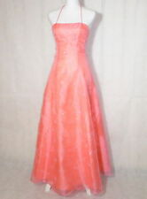 Zum Zum by Niki Livas Glitter Coral Formal Corset Prom Dress Ball Gown Size 3/4