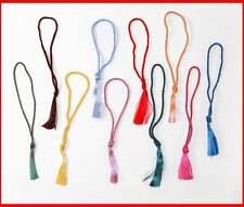 10 Lot-TASSELS GREEN Red BLACK Blue TEAL Orange YELLOW Purple-FOR BOOKMARKS