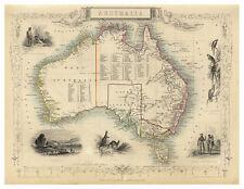 Australia illustrated map John Tallis ca.1851