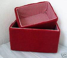 Filz - Box, Aufbewahrungsbox, Weihnachten, Advent, Rot, Karo, kariert,20 x 14 cm