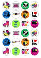 24 anni'80 1980s I Love WAFER/Carta di riso per cupcake topper cake topper Commestibili Fata