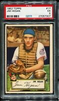 1952 Topps Baseball #17 JIM HEGAN Cleveland Indians PSA 5 EX