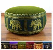 Colourful Zafu Meditation Cushion for Yoga, Seat Pillow, Kapok Seat, Thai Silk