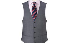 John Lewis Blue Sharkskin Waistcoat- UK Size 38R BNWT £60