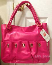 BRACCIALINI Firenze Handbag/Genuine LEATHER/Made in Italy/Hot Pink/$398/NWT