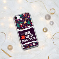 Drink Cocoa / Christmas Case / For iPhone 7 8 Xs XR 11 12 Pro Plus Max