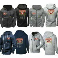 San Francisco 49ers Fan's Hoodie Zip Up coat Classic Sweatshirt Jacjet Coat
