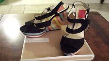 Women's Fahrenheit Multi-colored Wedge Sandals Size 10
