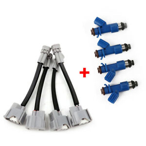 New 4PCS w/Plug&Play Adapters Fuel Injectors for Honda Acura RDX 410cc Well Made