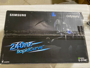 "Samsung CRG5 27"" 16:9 Curved Gaming Monitor - Dark Blue Gray"